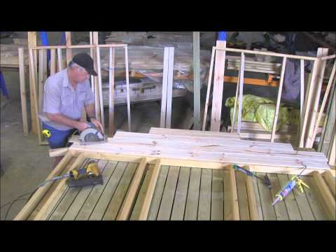 How to build a cubby house cladding the gable part 3.wmv