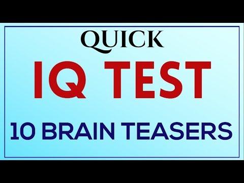 Genius IQ Test - Quick 10 Brain Teasers, Series - 1 ( Mensa IQ Test )