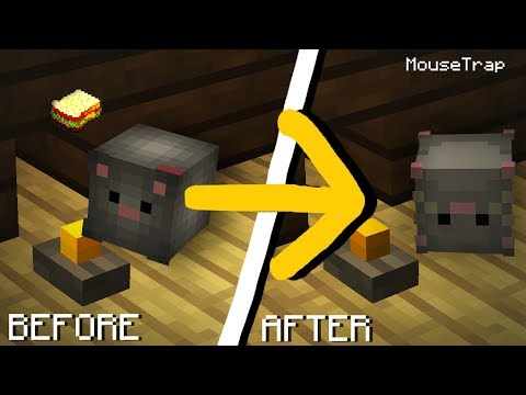 Minecraft | How to make a Working Mousetrap