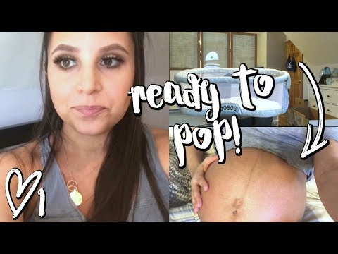 SETTING UP THE BASSINET + READY TO POP! // WEEKLY 1