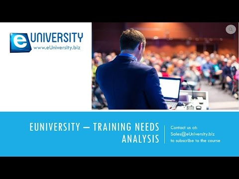 eUniversity - Training Needs Analysis