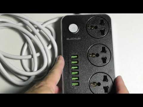 iBlockCube Universal Power Strip USB ports INCREDIBLE PRODUCT REVIEW