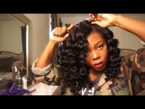 Big Voluminous Natural Hair Wand Curls!!
