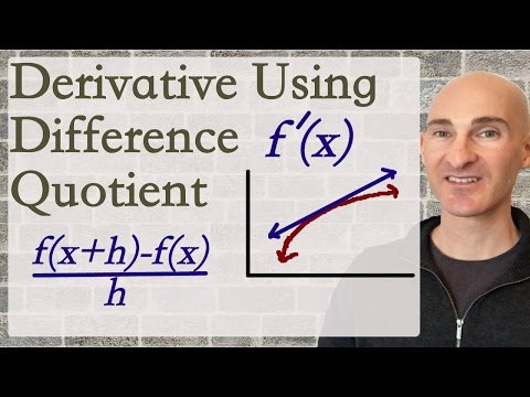 Derivative Using Difference Quotient