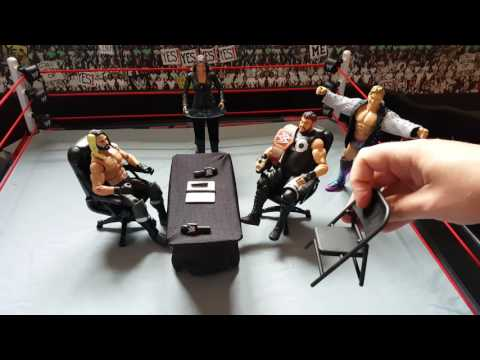 WWE Mattel Contract Chaos Figure Playset Review
