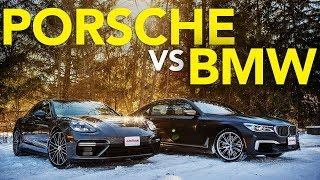 2018 BMW M760i vs Porsche Panamera Turbo Comparison   Which Luxury Winter Beater Wins?
