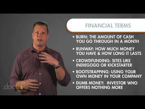 Key Startup Financial Terms - Creating The Killer Business Plan