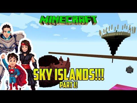 Minecraft: SKY ISLANDS! PART 1! (Capture the Monument mod/map!)