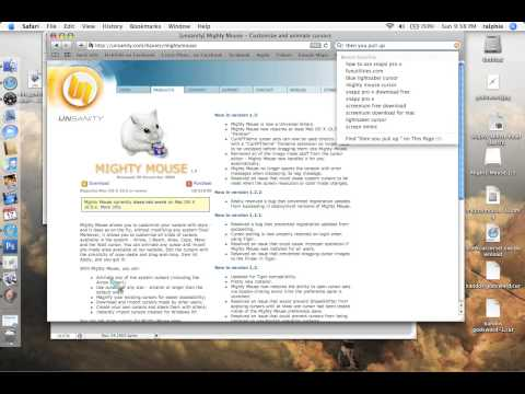How to change cursor on mac os x