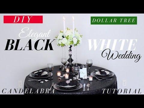 Elegant DOLLAR TREE Wedding Decorations | ***EASY DIY CANDELABRA TUTORIAL***