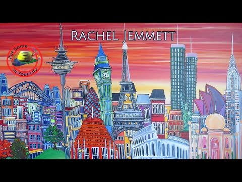 Fine art tips on How to Paint Acrylics with Rachel Jemmett on Colour In Your Life