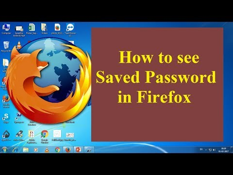 How to see the saved Password in Firefox