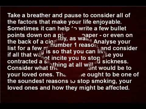 The Best Three Reasons to Stop Smoking