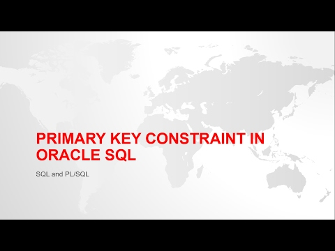 PRIMARY KEY CONSTRAINT IN ORACLE SQL WITH EXAMPLE
