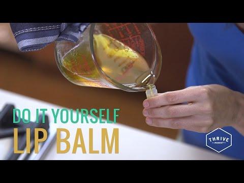 DIY Shea Butter + Almond Oil Lip Balm