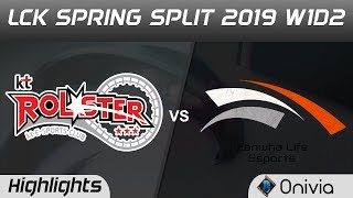KT vs HLE Highlights Game 1 LCK Spring 2019 W1D2 KT Rolster vs Hanwha Life Esports by Onivia