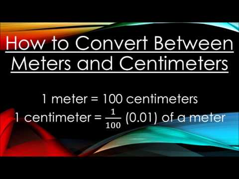 Converting Between Meters and Centimeters