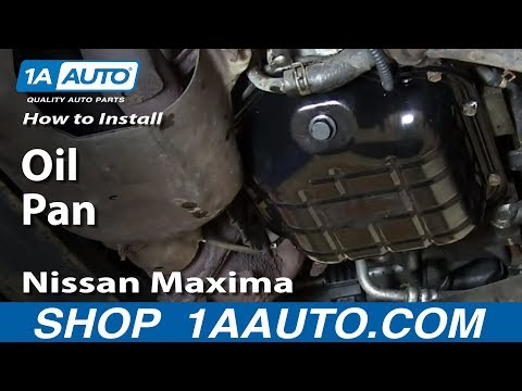 How To Install Replace Oil Pan Nissan Maxima Altima 3.5L