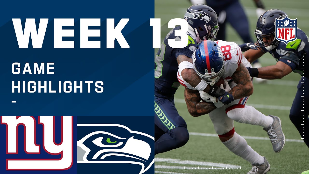 Giants vs. Seahawks Week 13 Highlights | NFL 2020