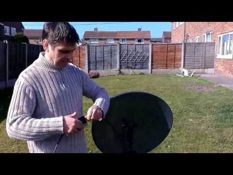 How to Align a Sky Dish / Aligning Satellite Dish Setup for Caravans using satfinder meter