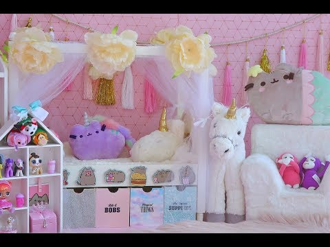 American Girl Doll Kawaii Bedroom ~ Pusheen, Unicorns and LOL Dolls