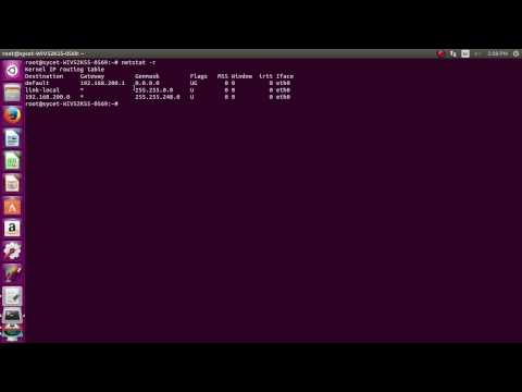 find your ip address and getway in ubuntu