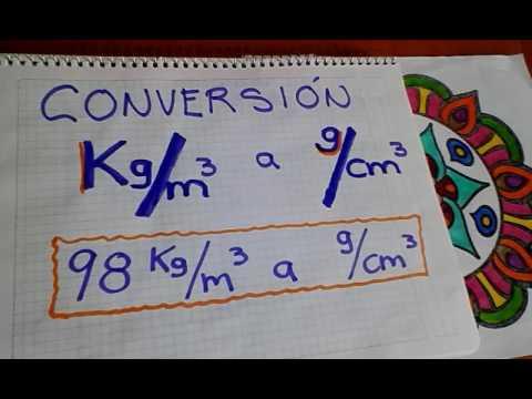 Conversión de Kg/m3  a  g/cm3