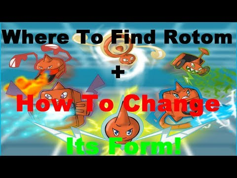 Pokemon X And Y-Where To Find Rotom+How To Change Its Forms!