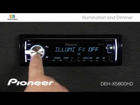 How To - DEH-X5800H - Color Illumination and Dimmer