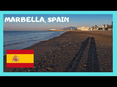 COSTA DEL SOL: The spectacular BEACH of MARBELLA (Spain)
