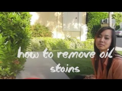 How To: Remove Oil Stains on Driveway with Asian Girl