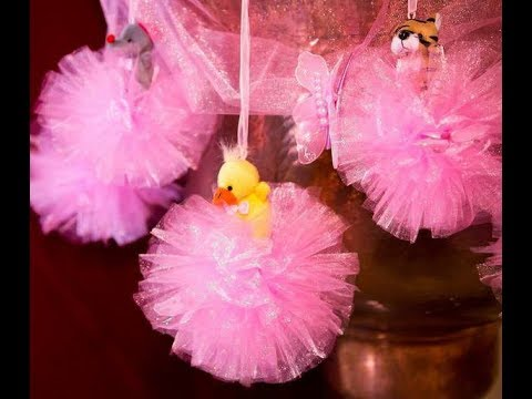 DIY- How to Make Tulle Pom Poms!  Easy DIY & Fast DIY Puff Balls!