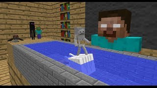 Monster School: Swimming - Minecraft Animation