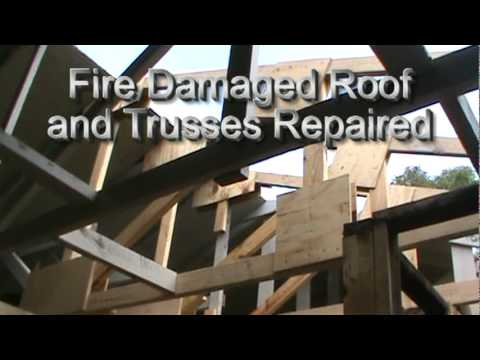 Fire Damaged Roof and Trusses Repaired.mpg