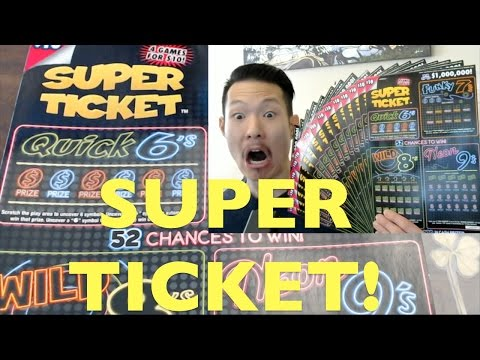 NICE WIN ON NEW SUPER TICKET FROM CALIFORNIA LOTTERY!