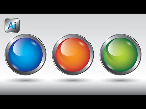Illustrator Tutorial Glass Button CC 2018