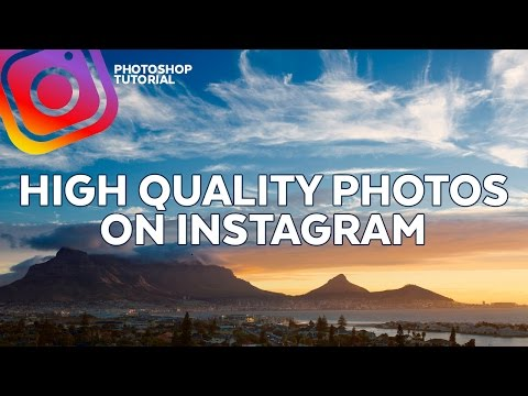 Upload setting for high quality photos on Instagram