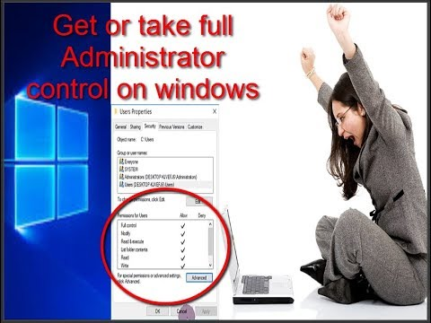 How to fix or upgrade user permission to take full control on windows 10 |  windows 7