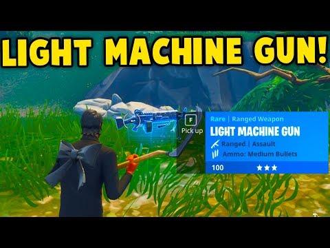Fortnite: LIGHT MACHINE GUN GAMEPLAY! NEW LMG UPDATE GAMEPLAY || Fortnite Battle Royale!