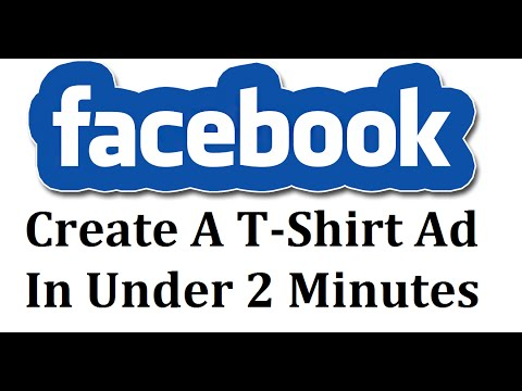 How To Create A T Shirt Facebook Ad Free In Paint In 2 Minutes