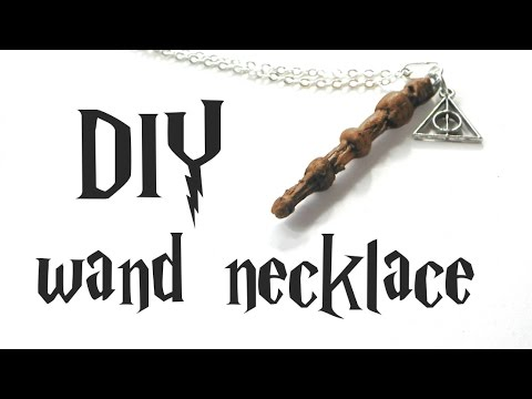 DIY elder wand necklace - Harry Potter tutorial