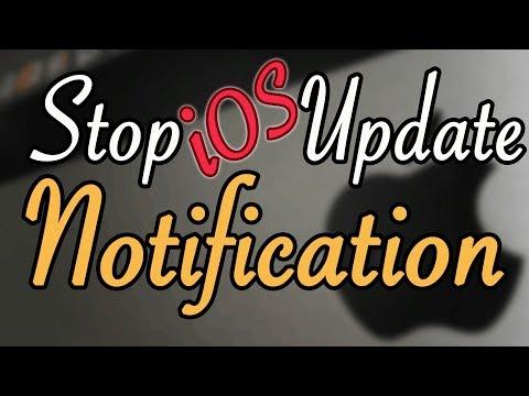 Stop iOS Update Notification iphone ipad