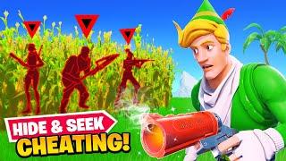 Cheating in Fortnite Hide & Seek...