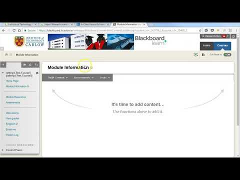 Linking to journal article from Blackboard