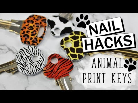 NAIL HACKS | Easy Animal Print Keys - 5 Designs!