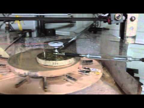 Grinding machine turntable.