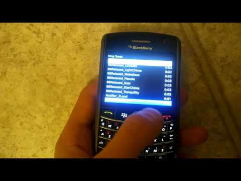 My OLD BLACKBERRY/VERIZON 9630 Phone. (Ringtones and Restart)