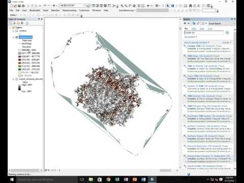 How to create  contour to tin in Arc GIS 10.1