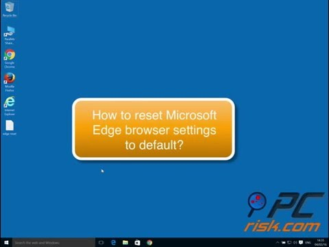 How to reset Microsoft Edge browser to default settings?