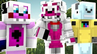 Funtime Foxy, Freddy And Robot Gaming Play FNAF Minecraft Minigames! (Minecraft Roleplay)
